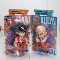 Wholesale Dragonball Box - Wholesale-Hot Sale 7 inch Height Dragon Ball Z Goku Kuririn Figure Model Toy Dragonball In box