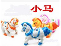 Wholesale Horse Wind Up Toy - Wholesale 3pcs a lotSmall horse Wind-up Toys 360 degree rotation Novelty & Gag Toyschildren toy gift hot sale