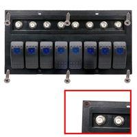 Wholesale Waterproof Gang - 8 Gang marine waterproof switch panel Car Auto Boat Marine LED Rocker Switch Panel Circuit Breakers