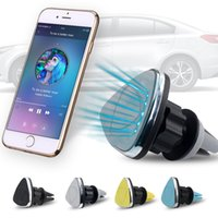 Universal Air Vent Magnetic Car Mount Holder Stand pour iPhone 7 6s 6 Plus Samsung S8 Plus LG LV7 Smartphone Tablet GPS Retail