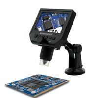 cámara de video microscopio usb al por mayor-600X USB LCD Microscopio electrónico Cámara de microscopio de vídeo digital 4.3 pulgadas HD Endoscopio OLED que magnifica con luces LED