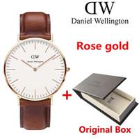 Wholesale Elegant Leather Watch - Famous Brand Watches 36mm Women 40mm Men Fashion Quartz Watch Female Elegant watches Relogio Feminino Clock Male Montre Femme