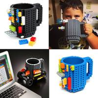Wholesale brick mug for sale - Group buy HOT DIY Block Puzzle Mug Drinkware Building Blocks Mugs Build On Brick Creative Mug Coffee Cup IB247