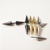 30 pcs 16G Gold Silver Black Stainless Steel Spike Cone Earring Stud Ear Helix Piercing Jóias