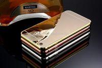 sert metal tampon çerçeve kılıfı kapağı toptan satış-Alüminyum Alaşım Tampon Çerçeve iphone 7 6 s Için samsung Not 5 + Lüks Ayna Metalik Hard Case 2 in 1 Hibrid Krom Cilt Kapak