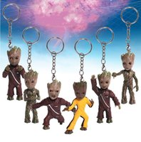 Comic Key Buckle Guardians Of The Galaxy Keychain Pendant Grote Tree Babies Anel Figura Doll Modelo Action Gift Collection Decoração 22fc H1
