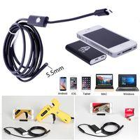 Wholesale ip67 waterproof mobile phone - 5.5mm 1M  2M  3.5M 6LED Waterproof WiFi Borescope IP67 Inspection Endoscope Tube Camera HD 640*480 For Mobile Phones