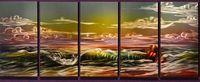 ingrosso arti contemporanee di metallo-Sky Clouds Handcraft Aluminium Metal Wall Art Pittura astratta Modern Contemporary Sculpture Painting Decor Pronto da appendere