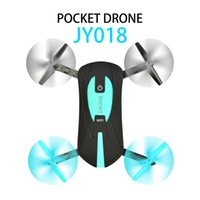 Wholesale Tracks Hd Wholesale - 2017 Hot Elfie Cool design JY018 portable Mini Wifi FPV selfie drone with hd camera flight track function support VR VS X8C X600