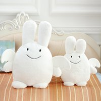 Almohadas Lindo Conejito Baratos-Kawaii Kids Angel Bunny Doll Cute Stuffed Rabbit Felpa Juguetes Animales Little Devil Doll Soft Comforting Toys Almohadas Bebé Regalos Dormitorio Decoración