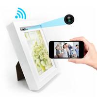 mini wifi ip kamera weiß großhandel-HD 720P Bilderrahmen Kamera Wireless Wifi IP Kamera Bilderrahmen Mini DV DVR Digital Stimme Video Recorder Weiß und Braun