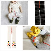 Wholesale Leggings For Newborn Boys - INS Baby Leggings Pants Newborn Autumn Trousers Infant Cotton PP Harem Pants Circle shell Printed Kids Clothing For 0-6Y Babyies A8074