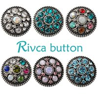 Wholesale 18mm Beads Free Shipping - D02228 Free Shipping Fashion 18mm Snap Buttons DIY snap button noosa chunks leather bracelet Fit DIY Noosa button Bracelet Jewelry