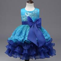 mardi gras tutu elbisesi toptan satış-Yeni Zarif Prenses Kız Elbise 2017 Moda Bebek Bahar Çocuk Ilmek Kolsuz TuTu Nakış Elbise Çocuklar Parti Kızlar Için Elbiseler