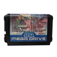 Wholesale Game Driving - New Arrival Super Games 32 in 1 16 Bit Game Cart Newest Game Cartridge For Sega Mega Drive   Genesis System