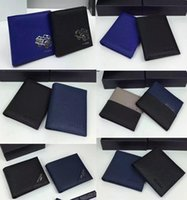 Wholesale Ivory Square Boxes - Multi-style optional high-quality luxury brand designer wallets import Really leather card package fashion business purse with box