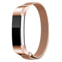 bilezik çifti toptan satış-Fitbit Için Milanese Döngü Band Alta şarj 2 Blaze Manyetik Metal Bilezik Watch Band Paslanmaz Çelik Bilek Kayışı Bilezik 30 çift / grup