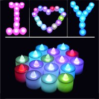 LED Candle Tealight Flickering Batterie sans flamme Bougies de thé Light Romance Wedding Party d'anniversaire Bougies de Noël Marchandises 3002032