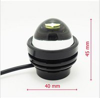 Wholesale Drl E - 2x Car Yellow CRE E LED Fish Eyes Projector Fog Light DRL Signal Tail Lamp Bulbs