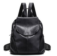 Wholesale Japanese Patchwork Bags - 2017 spring new tide shoulder bag handbags simple leisure soft leather travel backpack Japanese and Korean fashion bags