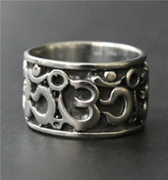 Wholesale Thailand Fashion Rings - Size 7-13 Fashion Biker Ring 316L Stainless Steel Silver Polish Thailand Lucky 3D Band Ring New Gift Biker Ring