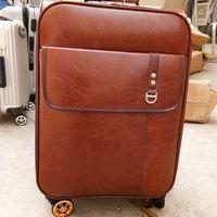 Wholesale Retro Luggage - High quality caster trolley suitcase fashion ladies designer Retro trolley luggage Business travel with trolleys mala de viagem