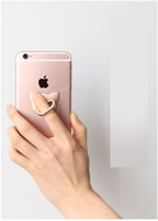 pegatinas móviles al por mayor-Anillo de anillo del anillo del diamante del anillo de la banda de metal del teléfono etiquetas engomadas traseras perezosas del stent de la historieta del marco del teléfono móvil perezoso