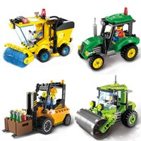 Wholesale Enlighten City - ENLIGHTEN City Series Forklift Truck Building Blocks Best Kids Xmas Gifts City Construction Blocks Toy for Children Gift 1103