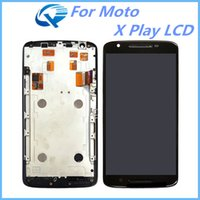 Wholesale One Touch Panel - For Motorola Moto X Play LCD Digitizer Touch Screen Replacement With Frame Assembly One By One Check