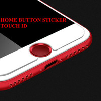 Wholesale Home Button Stickers Iphone 5c - Touch ID Aluminium Alloy Home Button Stickers Fingerprint Support For iPhone 5 5S SE 5C 6 6S 6Plus 7 7Plus With Retail Packing