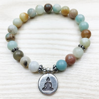 Wholesale Rainbow Bracelets Wholesale - SN1027 New Design Rainbow Amazonite Bracelet Women`s Buddha Male Bracelet Wrist Mala Healing Bracelet Lowest Price Free Shipping
