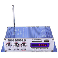 Wholesale Motorcycle Radio Mp3 Player - HY - 502 Car Amplifier Radio MP3 Speaker LED Hi-Fi 2 Channel Digital Display Power Player Support CD DVD for Car Auto Motorcycle +B