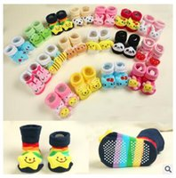 Wholesale Doll Socks Wholesale - Baby Socks Newborn Spring and Autumn Three-dimensional Anti Slip Floor Cartoon Animal Head Doll Free Shipping