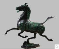 бронзовый конский орнамент оптовых-Античная бронза украшения верховая езда Фейян медный конь супер дракон птица античный украшения дома ремесла латунь лошадь подарок