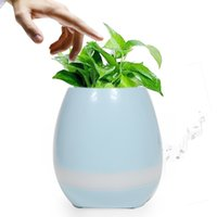 Wholesale Home Music Speakers - Creative Smart Bluetooth Speaker Music Flower Pots Home Office Decoration Green Plant Music Vase Music Green Plant Touch Induction DHL FREE