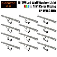 Wholesale change lcd - Wholesales 12pcs Lot 18*4W 4IN1 Led Bar Lights Long Led Flood Light Outdoor RGBW Led Washer Light DMX 512 LCD Control,90V-240V