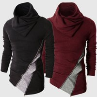 Wholesale long sleeve thermal men online - Autumn New Men Pullovers Men Winter Turtleneck Pullover Thermal Sweater Long Sleeved Cool Slim Fit Tops
