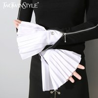Women original quilts - TWOTWINSTYLE Original Spring The Organ Cuff Pleated Horn Cuffs Women New Fashion