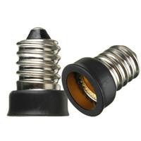 adaptador de soquete e12 e14 venda por atacado-Big Promoção E14 para E12 Base de Lâmpada LED Lâmpada Titular Adaptador Extender Conversor de Soquete