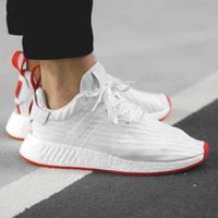 Hot NMD Runner R2 Mesh Triplo Branco Preto Azul Rosa Homens Mulheres Casual Shoes Sneakers Originals Moda NMD Runner Primeknit Sports Shoes