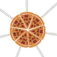 ingrosso pizza migliore-Ciondolo di pizza alla moda Best Friends Forever Collana girocollo per donne Uomini Bambini Amicizia Migliori regali Colar