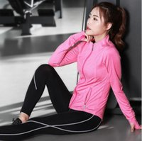 Wholesale Tight Clothes Dance - Three-piece Suit Sport Yoga Sets Suits Pants Bra Clothes Jacket Gym Polyester Running Tights Women Sports Fitness Dancing jersey New