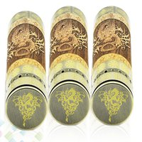 Wholesale Electronic Cigarette Dragon - Hot Selling Dino Mod Vaporizer Electronic Cigarette with Mechanical Switch Mighty Dragon pattern 4500mAh mechanical mod DHL Free