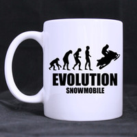 Wholesale Unique Mug Designs - Wholesale- Evolution Snowmobile Custom Unique Design Beer Coffee Mug White Cups Office Home Mugs Ceramic Gift Printed on Two Sides