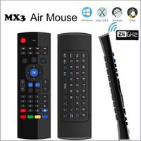 Wholesale Tablet Ir Remote Control - MX3 Air Fly Mouse 2.4GHz Wireless Keyboard x8 Remote Control Somatosensory IR Learning 6 Axis with Mic SMART Android TV Box Mini PC Tablet