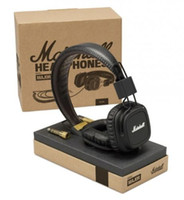 Wholesale bass professional - Marshall Major Headphones With Mic Deep Bass DJ Hi-Fi Headphone HiFi Headset Professional DJ Monitor Headphone With Retail Package