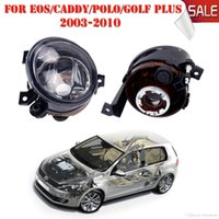 Wholesale Vw Touran - 2x Fog Lights Housing Foglamps Set For VW Caddy III Eos Golf Plus Polo Tiguan Touran Wagon Replacement Car Styling #P324