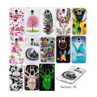 Wholesale s5 butterfly case for sale – best For Samsung Galaxy S5 Cases Noctilucent Flowering Luminous Brighten Case Cover at Night Butterfly Flowers Owl Feather