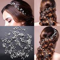 Wholesale Hair Made Plate - Wedding bridal Hand Made Pearls Hair Band Beaded Crystals Hair Accessories