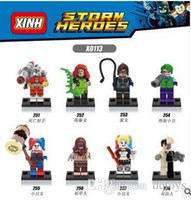 Wholesale Character Model Hero - Building Blocks Super Heroes Suicide Squad Character Model Diamond Blocks 3D Puzzle Kids Toys Educational DIY Toys